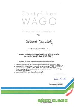 Certyfikat WAGO