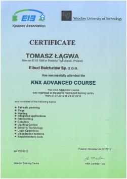 Konnex Association Certificate